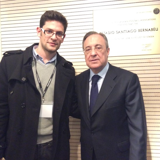 Albert with Florentino Pérez